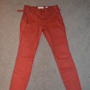 Rustic Red Anthropologie Pants